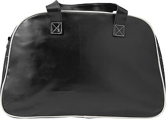 Sportovní taška, retro styl, černá