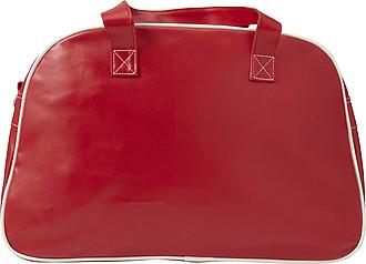 Sportovní taška, retro styl, červená