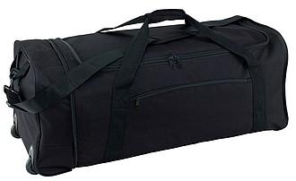 ELISA Skládací cestovní taška na kolečkách, černá