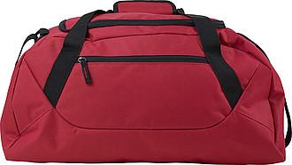 Sportovní taška z polyesteru, červená