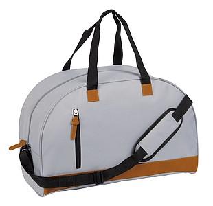 MANDELINA Sportovní taška s hlavní prostornou kapsou, šedá