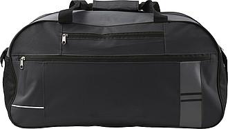 Cestovní taška s reflexním pruhem, černá