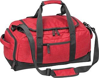 Sportovní taška s kapsou na obuv, červená