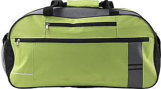 Cestovní taška s reflexním pruhem, světle zelená
