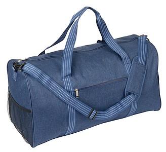 Sportovní taška s kapsou na boty, riflová