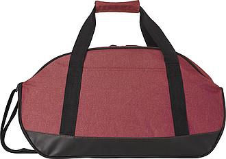 Sportovní taška s černým dnem, červená