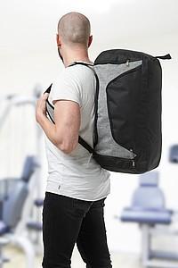 AMALIDA Sportovní taška a batoh na záda v jednom černá, šedá