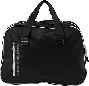 Sportovní taška v retro stylu, černá