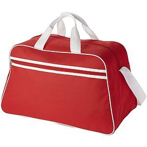 Trendy sportovní taška s přední kapsou na zip, červená