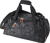 Sportovní taška, šedá s oranžovým zipem