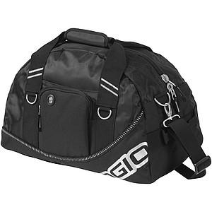 NADLER Praktická sportovní taška s přední kapsou na zip, černá