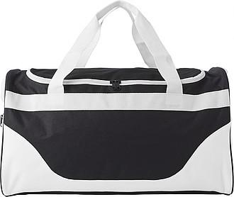 Sportovní taška, černo bílá