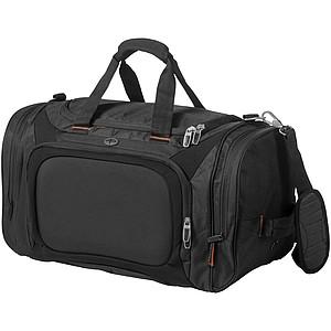 Cestovní taška na rameno s oddílem na boty, černá
