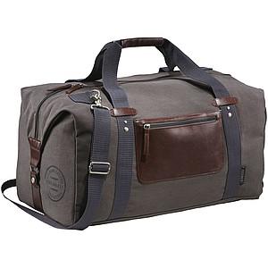 ALEXIA Cestovní taška FIELD&CO z bavlněného plátna, hnědá