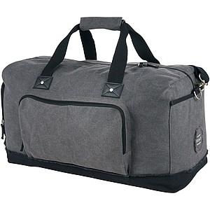 Cestovní taška, černá/šedá