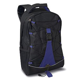 LEMA Černý ruksak s modrými doplňky