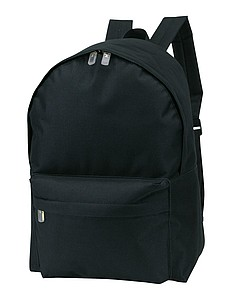 Batoh s přední kapsou, černý