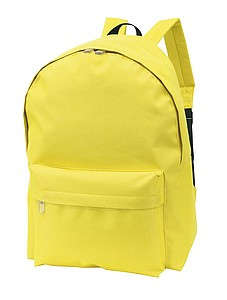 Batoh s přední kapsou, žlutý