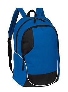 Batoh, modrý s černými detaily