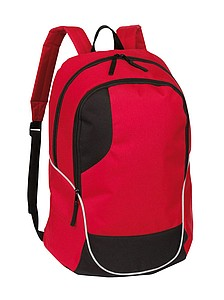 Batoh, červený s černými detaily