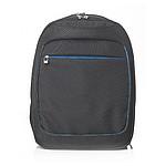 Praktický business batoh na laptop, černá, modrá