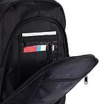 Batoh na laptop s intergrovanými sluchátky, černá