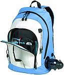 NINO batoh s popruhem, světle modrá