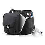Batoh na laptop vyrobený z recyklovaných PET lahví, černá