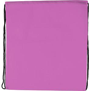 Ruksak se zdrhovací šňůrkou, růžový
