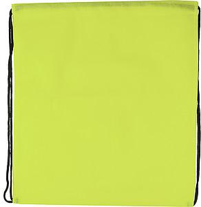 Ruksak se zdrhovací šňůrkou, světle zelený