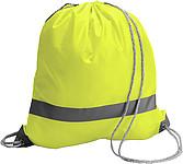 BAGGY Ruksak s reflexním proužkem a zdrhovací šňůrkou, žlutá