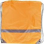 BAGGY Ruksak s reflexním proužkem a zdrhovací šňůrkou, oranžový