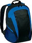 Batoh s přední kapsičkou na MP3 přehrávač, černo modrý