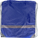 BAGGY Ruksak s reflexním proužkem a zdrhovací šňůrkou, modrý