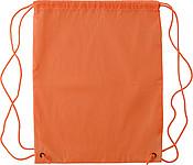 Ruksak se zdrhovací šňůrkou, polyester,oranžová