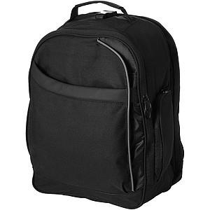 Černý batoh na laptop, vhodný při cestování letadlem