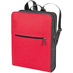 Obdelníkový plstěný batoh, červený