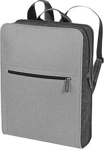 Obdelníkový plstěný batoh, šedý