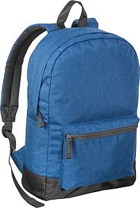 Jednoduchý batoh s přední kapsou, modrý