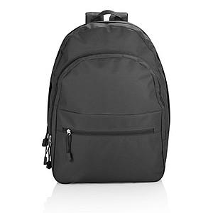 Batoh s 3 kapsami na zip, černý