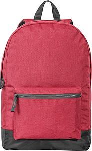 Jednoduchý batoh s přední kapsou, červený