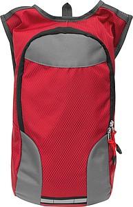 Batoh pro cyklisty, šedo červený