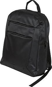 Černý batoh vhodný na notebook