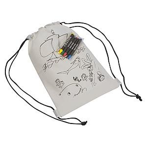 Stahovací batůžek s obrázkem na vymalování