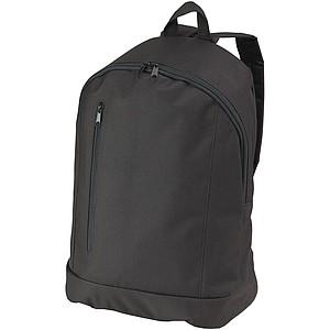 Jednoduchý batoh s přední kapsou a vertikálním zipem, černá