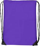 Stahovací batoh s vyztuženými rohy a černou šňůrkou,fialový