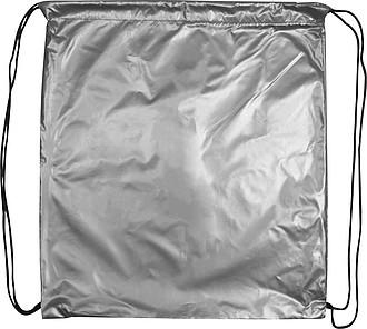Stahovací pytlík v metalické stříbrné barvě