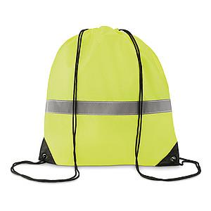 Batoh se šňůrkami a reflexním, neonově žlutá