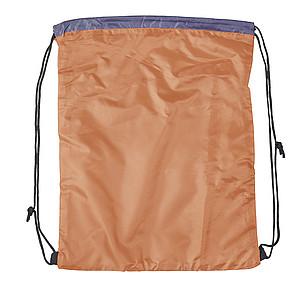 DEMARCO Stahovací batoh s šedým panelem pro potisk, oranžový