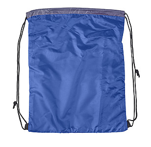 DEMARCO Stahovací batoh s šedým panelem pro potisk, modrý